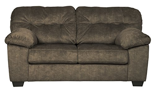 Ashley Furniture Signature Design - Accrington Contemporary Upholstered Loveseat - Earth Brown ()