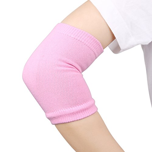 uxcell 1 Pair Elbow Gel Cover Sleeves Gloves Cracked Dry Skin Hand Care Soft Spa Moisturizing Exfoliating Stretchy Pink Gift Packs - Dry Elbows