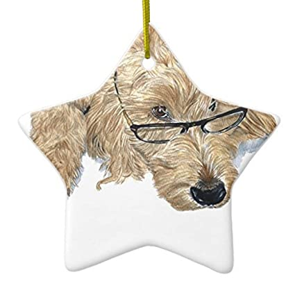 novelty christmas tree decor goldendoodle ceramic ornament star christmas decorations ornament crafts - Goldendoodle Christmas Decorations