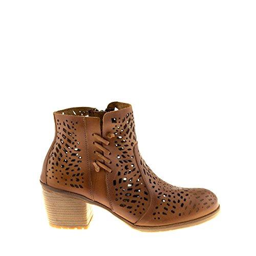 Genuino Para Cuero B084 Cremallera com Enamorarse Zapatos con Mujer Marr Cana Felmini Botines qx5CHnPvwU