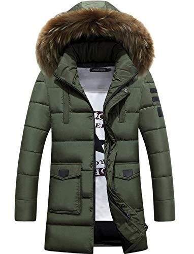 Ispessita Coat G Armee Grün In Invernale Pelliccia Cappuccio Uomo Giacca Da Parka Moda Con PI8HRnw