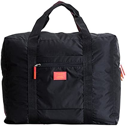 BXT Waterproof Lightweight Multifunctional Travel Trolley Pouch Large Capacity Folding Duffel Clothes Organizer Storage Packing Bag for Luggage Sports Gear or Gym