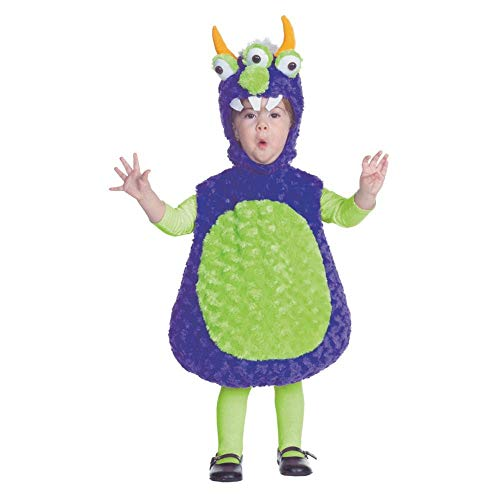 Underwraps Costumes Baby's Three Eyed Monster Belly, Purple/Green, Medium