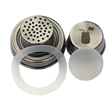 Cocktail Shaker Lid with Silicone Seals for Regular Mouth Mason, Ball, Canning Jars by Mason Jar Lifestyle
