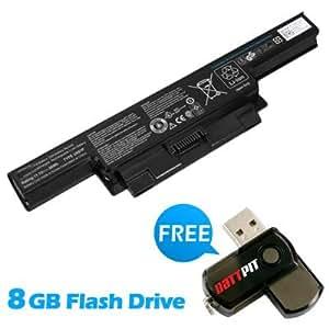 Battpit Bateria de repuesto para portátiles Dell Y210P (4400mah / 49wh) Con memoria USB de 8GB GRATUITA