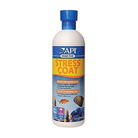 API MARINE STRESS COAT Saltwater Aquarium Water Conditioner 16-Ounce Bottle - Api Tap Water Conditioner