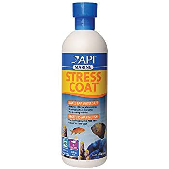 API MARINE STRESS COAT Saltwater Aquarium Water Conditioner 16-Ounce Bottle