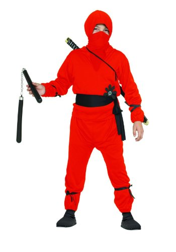 Red Assassin Costume (Ninja Boy Child Costume (Red) (Small 4-6))