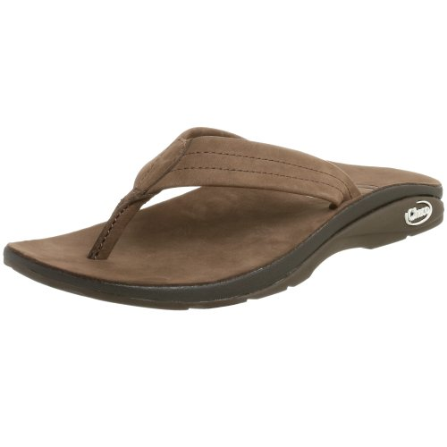 Chaco Women's Leather Flip Flop,Shiitake,12 M
