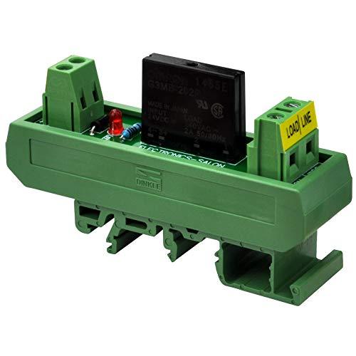 Electronics-Salon DC 24V Slim DIN Rail Mount 2Amp AC Solid State Relay Interface Module, G3MB-202P 24VDC.
