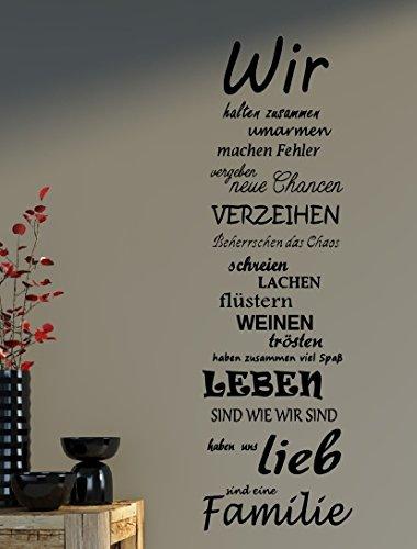 Wandtattoo Spruch Familie family WIR Haus Liebe Sprüche Spruch ca