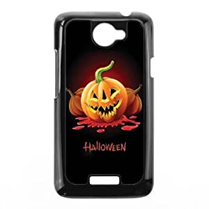 Halloween Pumpkin Carving and Text HTC One X Cell Phone Case Black&Phone Accessory STC_075276