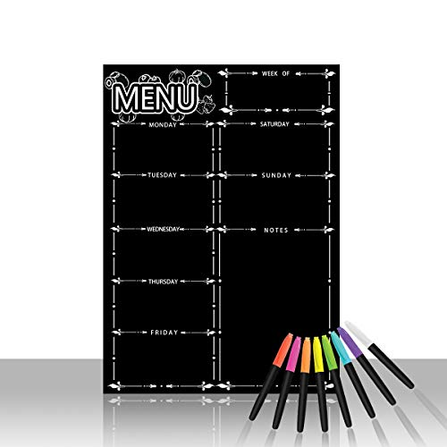Magnetic Refrigerator ChalkboardWeekly Menu