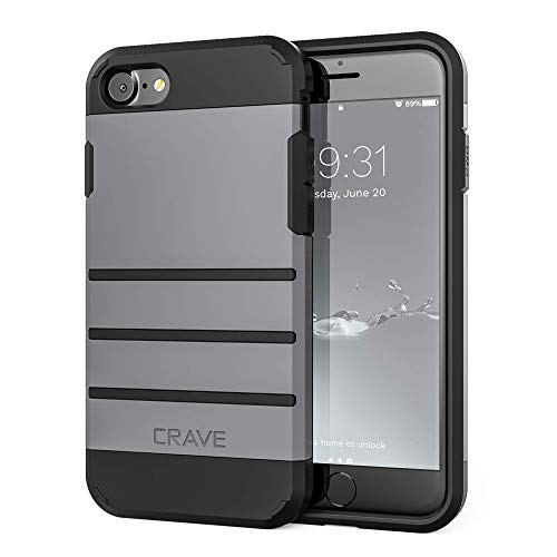 iPhone 8 Case, iPhone 7 Case, Crave Strong Guard Protection Series Case for Apple iPhone 8/7 (Slate)