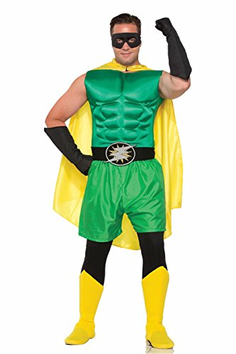 Forum Novelties Adult's Green Superhero Or Villain Muscle Chest Padded Shirt Costume -