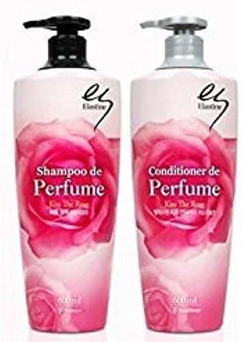 Elastine perfume Kiss the rose shampoo 680ml + conditioner 680ml