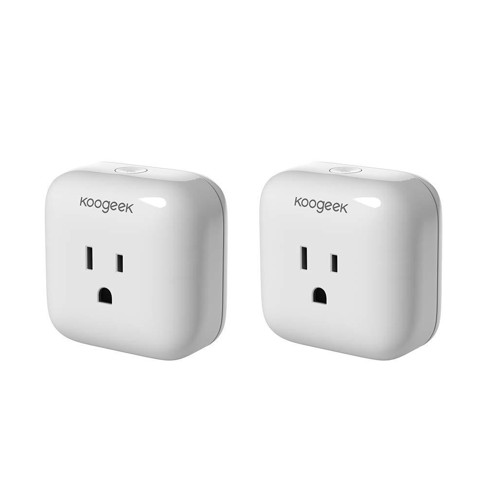 Koogeek Smart Plug, WiFi Socket Outlet Compatible with Amazon Alexa, Apple HomeKit and Google Assistant, Electronics Controller No Hub Required on 2.4Ghz Network UL&ETL&FCC certified (2 packs) by Koogeek