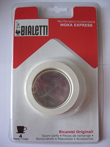 Packing of 3 gaskets and 1 filter for alluminium coffeepots 4cups (Spanish Coffee Filter compare prices)