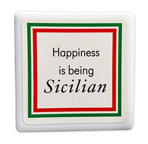 - Happiness is being Sicilian Tile Magnet - From Italy Collection of Italian Pride Products at PSILoveItaly