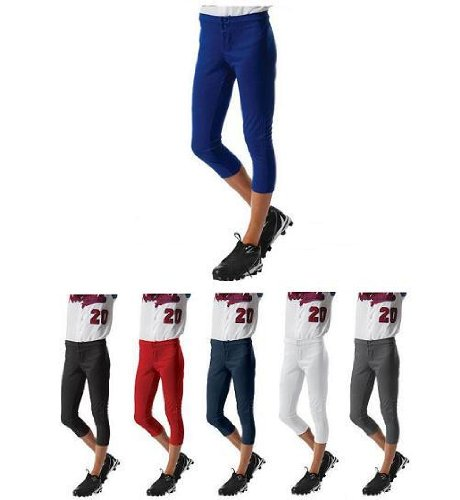 Girls/Womens Low Rise Softball Pants Moisture Wicking Double Knit 10oz (10 Sizes, 6 Colors)