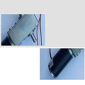 Moligh doll Motor de Engranaje Helicoidal de Doble Eje de CC de 12 V Motor de Alto Par Motor Reductor de Engranaje Helicoidal MiniVelocidad Del Micromotor Avance y Retroceso 50 RPM