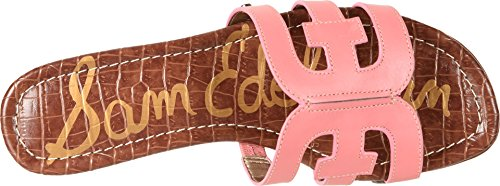 Sam Edelman Femmes Bay Slide Sandale Sucre Rose Vaquero Cuir De Selle