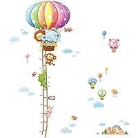 Decowall DAT-1606N Animal Hot Air Balloon Height Chart...
