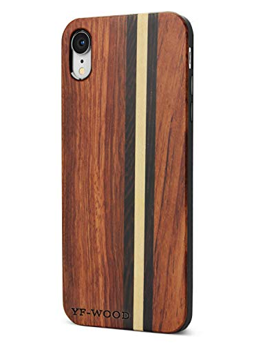 Compatible for iPhone XR Wood Case, Premium Luxury Wood Pattern High Impact Durable Shockproof Heavy Duty Slim Thin Back Bumper Protective Cover Case for iPhone XR (Cheap Wood Durable)