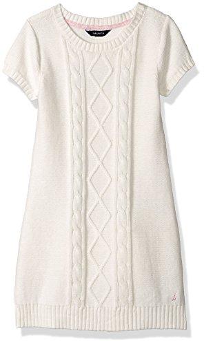Nautica Girls Polka Dot Pleated Sweater Dress