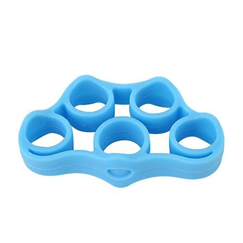 3pcs pince doigt Silicone Résistance Formateur Force Poignée Bande Yoga poignet doigt civière Expander Exercice 3 couleurs