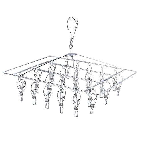 BTMB Stainless Steel Rectangle Laundry Clothes Drying Rack D