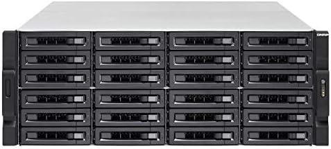 QNAP TVS-2472XU-RP Ethernet Bastidor (4U) Negro NAS - Unidad Raid (Unidad de Disco Duro, SSD, Serial ATA III, 2.5,3.5