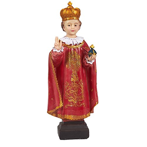 Juvale Infant of Prague Statue - Resin Child Jesus Christ Figurine, Religious Holy Child Catholic Decoration for Altar Display, Home Decor, Christian Devotion, 4.25 x 11.75 x 2 Inches