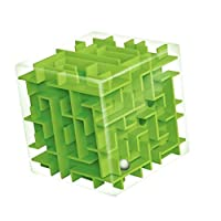 Kukakoo Best Kids Puzzle Toy, Fun Activity, Set for Ages 3 4 5 6 7 8 9 10 Year Old Boys & Girls - Kids 3D Maze Cube Labyrinth Rolling Twist Toy Intellectual Challenge Puzzle Game