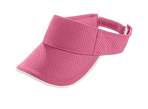 Augusta Sportswear KIDS' ATHLETIC MESH TWO-COLOR VISOR OS Pink/White