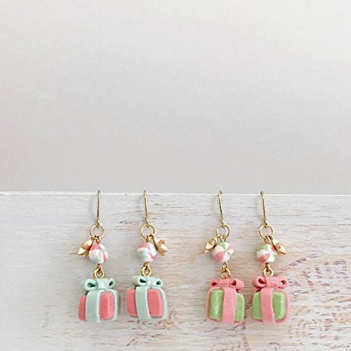 Polymer Clay Christmas Jewelry.Christmas Gifts Xmas Gift Box Earrings Polymer Clay Gift Box Earrings Tiny Gift Bix Earrings Polymer Clay Jewelry Gift For Her
