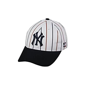 new york yankee baseball caps yankees cap black online india adult pin stripe hat adjustable twill throwback