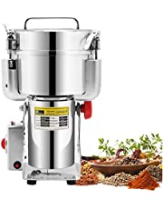 CGOLDENWALL Swing Type Electric Grain Grinder Mill 1000g Stainless Steel Commercial Spice Pepper Grinder Upgraded Open-cover-stop Safety Design Cereals Puerizer Herb Grinder Commercial Fine Powder Machine with CE Certificate for Various Grains Spice, Gift for mom, Wife 110V/220V