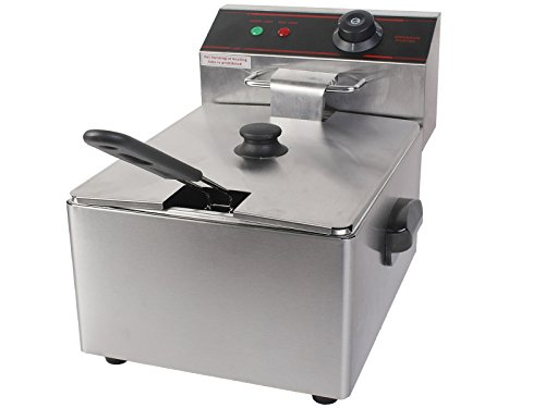 PROSPERLY U.S.Product 2500W Deep Fryer Electric Commercial Tabletop Restaurant Frying w/ Basket Scoop