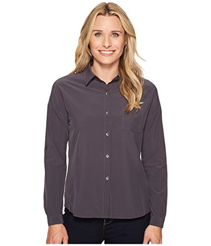 (prAna Agnes Long Sleeve Tops, Coal, Small)