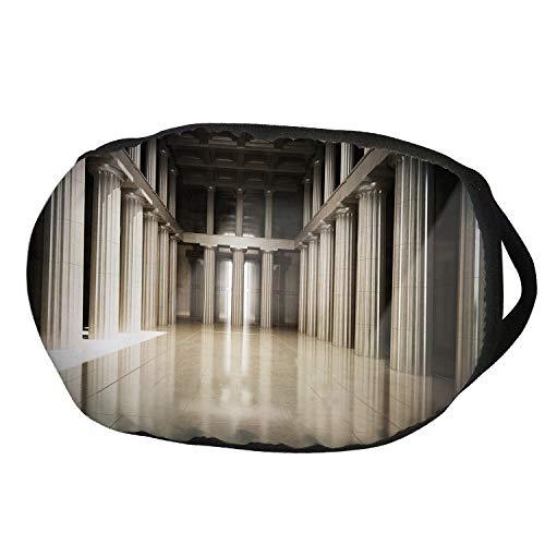 (Fashion Cotton Antidust Face Mouth Mask,Pillar Decor,3D Model Style Column Interior Empty Room Digital Image Decorative Design,Beige and Tan,for women &)