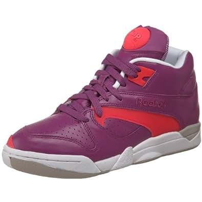 Reebok Court Victory Pump Tennis Shoe,Bright Purple/Laser Pink/White,8 M US Men's/9.5 M US Women's
