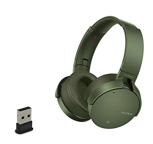 Sony MDRXB950N1/N Wireless Bluetooth Noise Cancelling Headphones With USB Bluetooth Adapter - Green