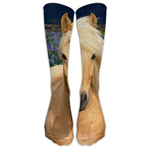 - New Fabric Yellow Horse Knee High Graduated Compression Socks For Women Men - Travel & Flight Socks - Running & Fitness