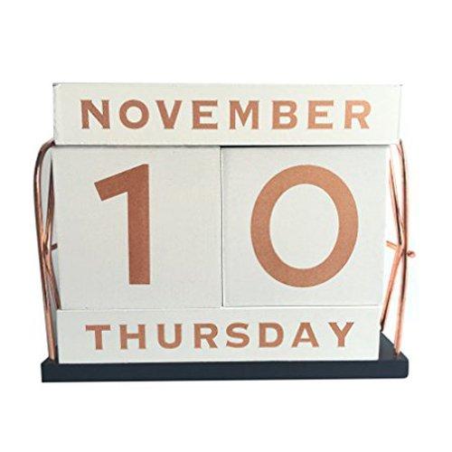 Rose Gold Desk Calendar