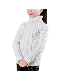 Baby Girls Boys Children Warm Thick Long Sleeve Hooded Pullover Sweater