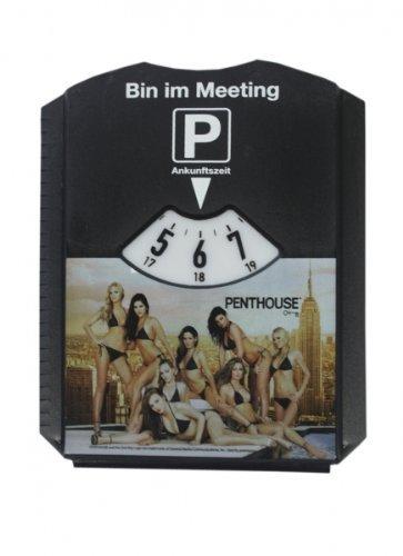 Parkscheibe Eiskratzer Penthouse Sexy Hot Girls - Bin im Meeting - 1 Stück