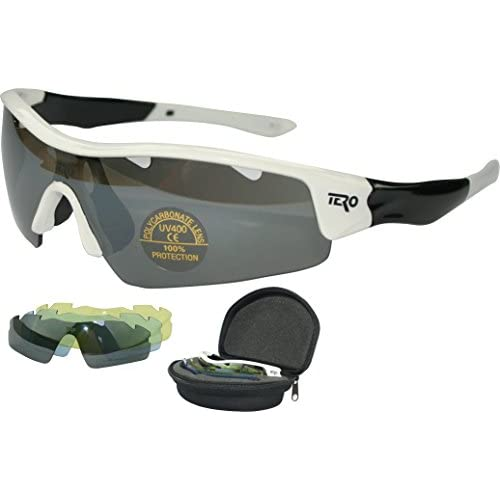 Tero Multi Lens Lunettes de sport, protection UV400, incassable avec 3objectifs