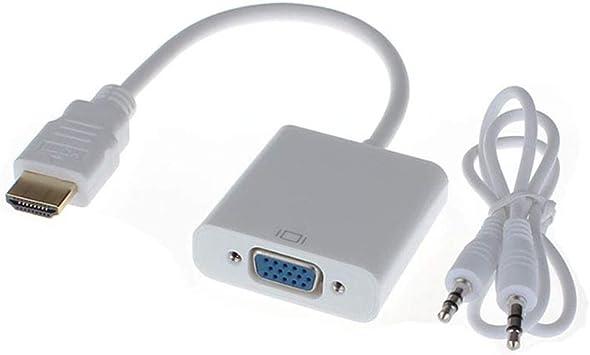Adaptador de HDMI a VGA de 3,5 mm Adaptador para Cable de Audio ...