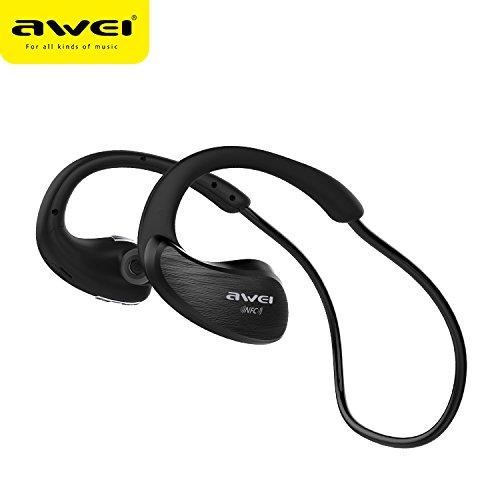AWEI A885BL Bluetooth Headphones Sport Wireless Earphones Bluetooth Headset With Microphone Auriculares Ecouteur (Black)